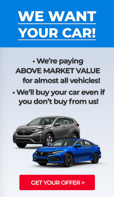 We Want Your Car! - GET YOUR OFFER